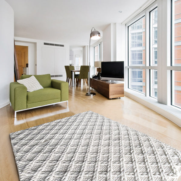 Lattice Wool Rug - greendecore.co.uk - 1