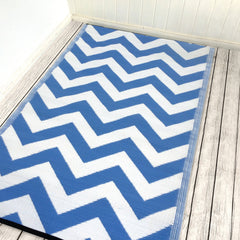 Psychedelia Rug Blue and white - greendecore.co.uk - 1