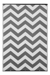 Psychedelia Grey and White Rug - greendecore.co.uk - 1