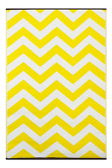 Psychedelia Rug Yellow and White - greendecore.co.uk - 1