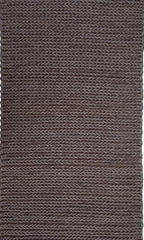 Tresse Wool Rug , Chocoloate - greendecore.co.uk - 1