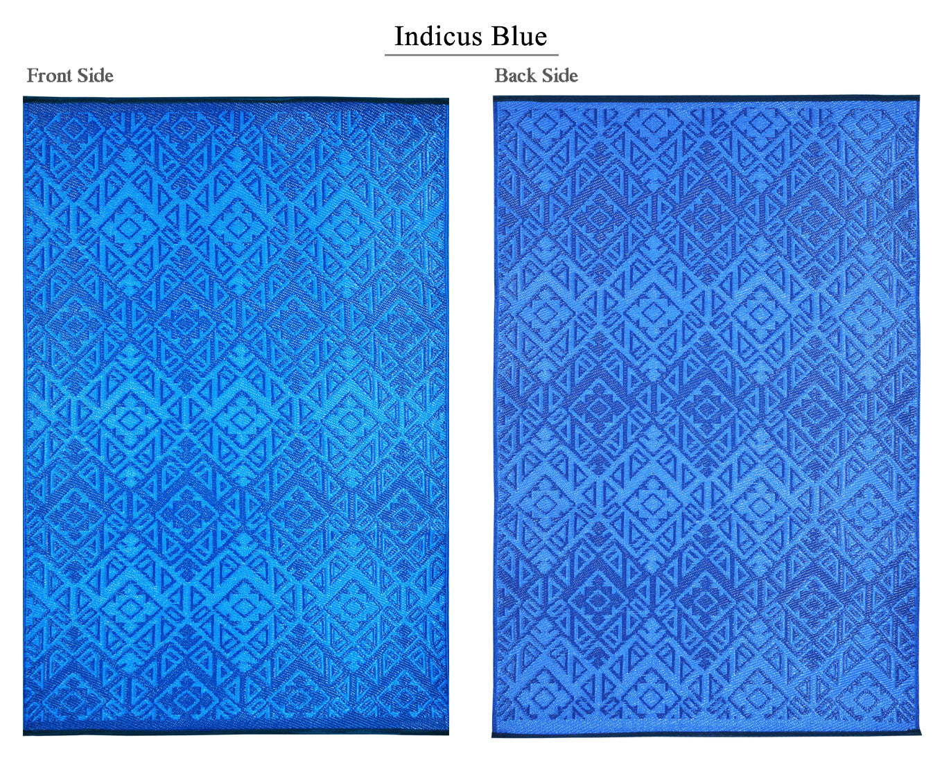 Indicus Outdoor Recycled Plastic Rug (Blue hues)