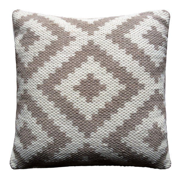 Ava Cushion Cover Dove Grey /  Light Cream, Outdoor Cushion ( Cover only)