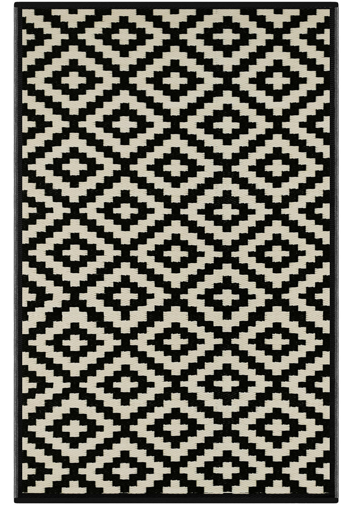 Nirvana Outdoor Rug (Black / Beige)