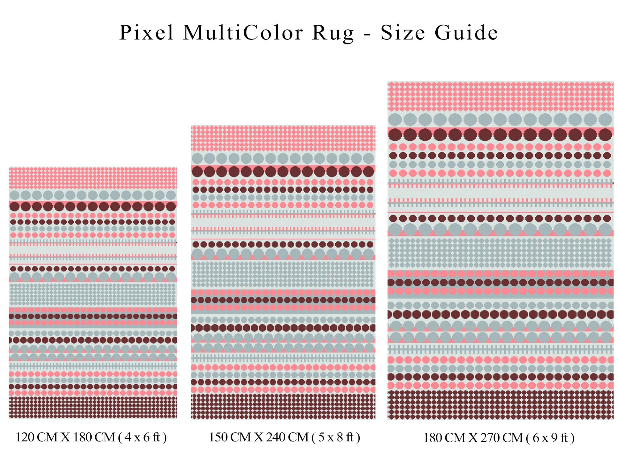 Pixel Outdoor Recycled Plastic Rug (Multicolor)