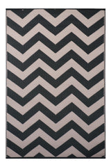 Psychedelia Rug Black and Beige - greendecore.co.uk - 1
