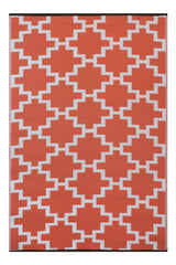 Solitude Coral and white Rug  (120 cm x 180 cm) - greendecore.co.uk - 1