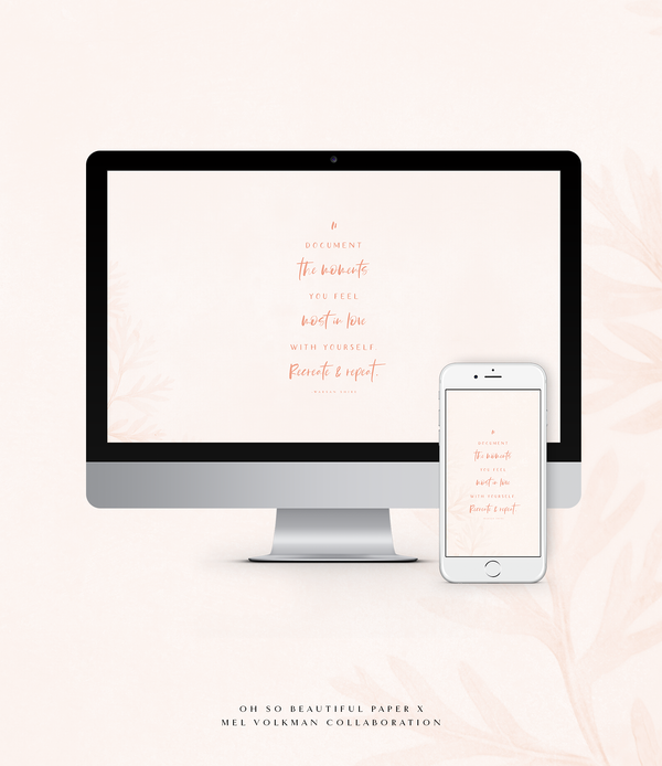 Oh So Beautiful Paper Collaboration | Free Wallpaper!