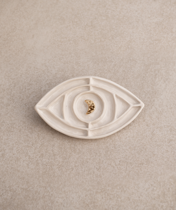 Mind's Eye Talisman White + 22k Gold