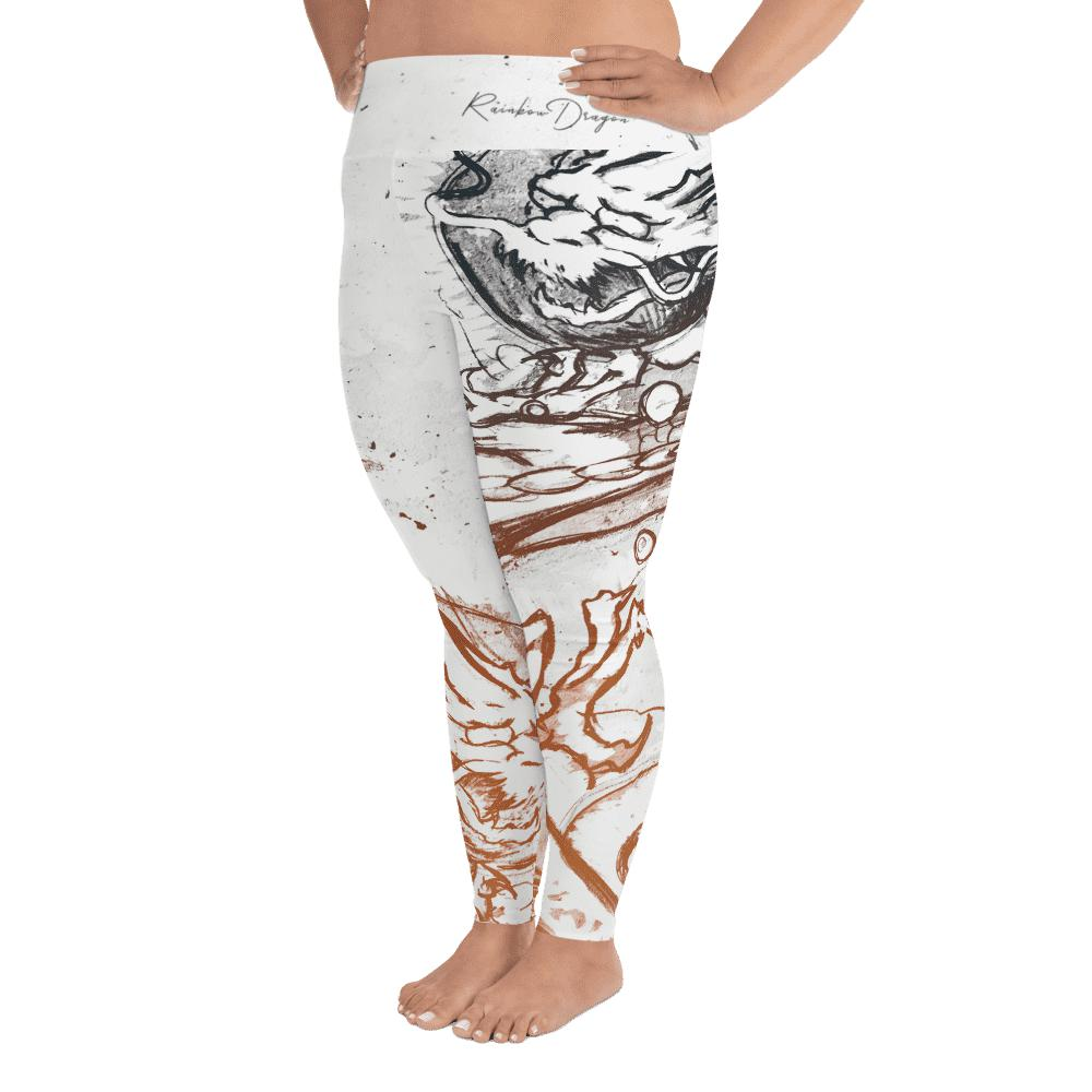 Legging grande taille - Dragon et arc-en-ciel-Raise yourself