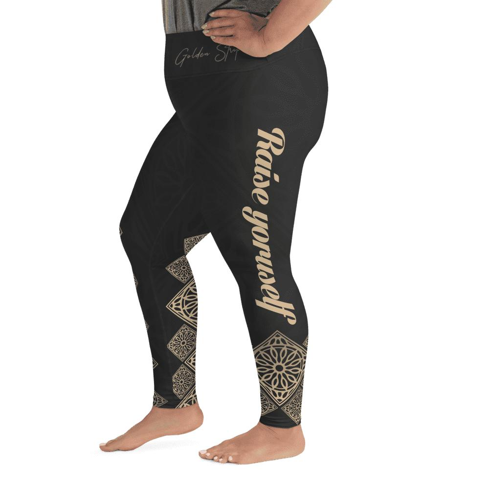 Legging grande taille - Les flèches d'or-Raise yourself