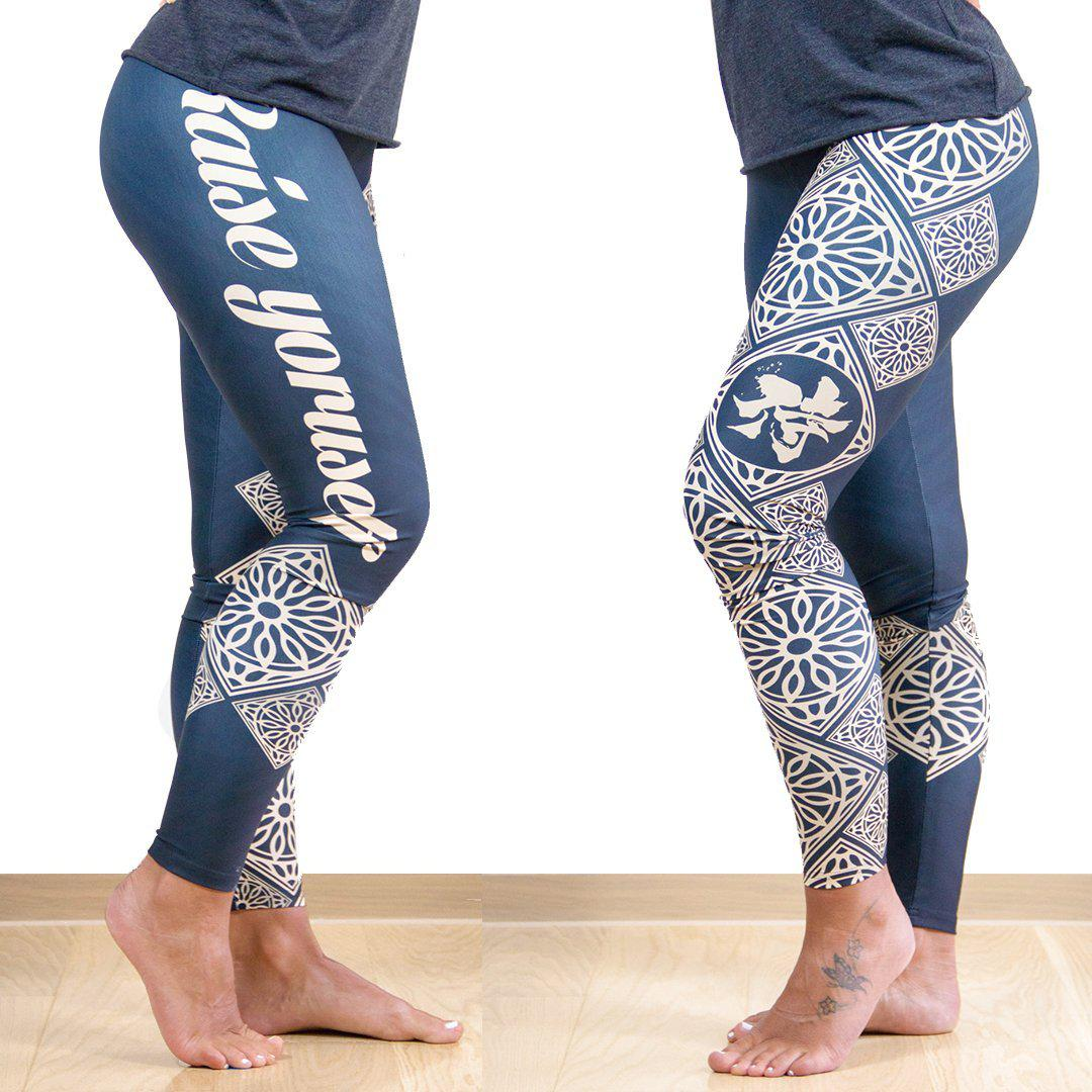 Legging - Mandala doré-Raise yourself