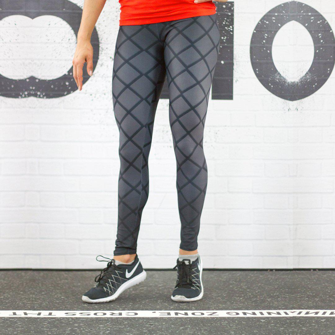 Legging - Noir à damier-Raise yourself
