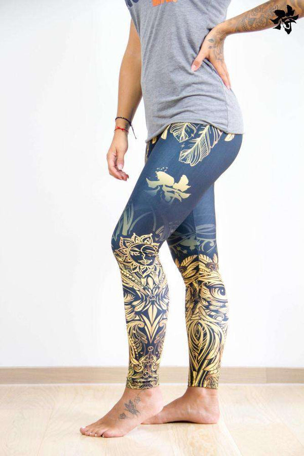 Printed Yoga Legging - Owls of light - Raise yourself