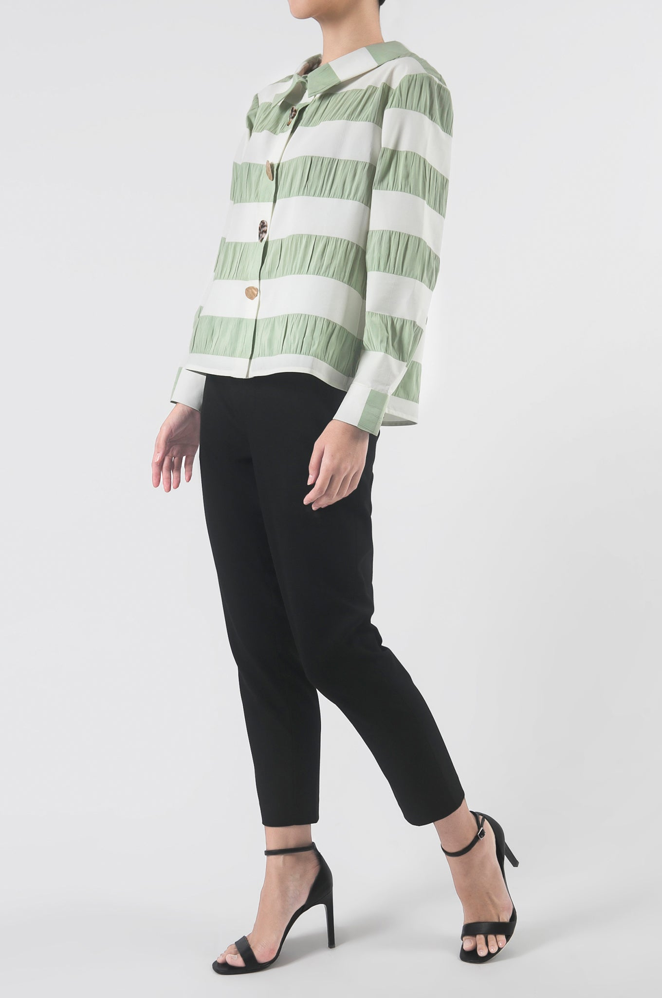 Mint Gathered Back Blouse