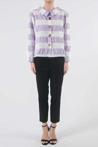 Lilac Gathered Back Blouse