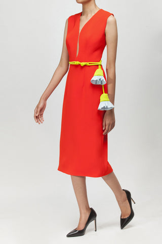 Cinnabar Red Big Bang Dress