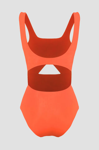 Burnt Orange Mural Swimsuit
