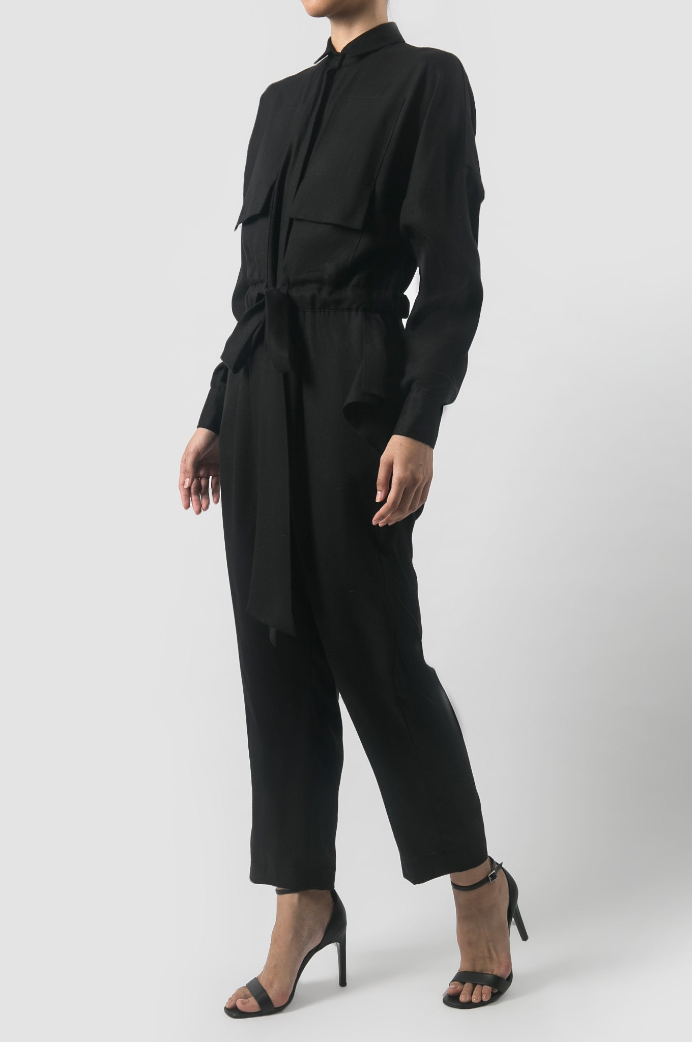 Black Micah Long Jumpsuit
