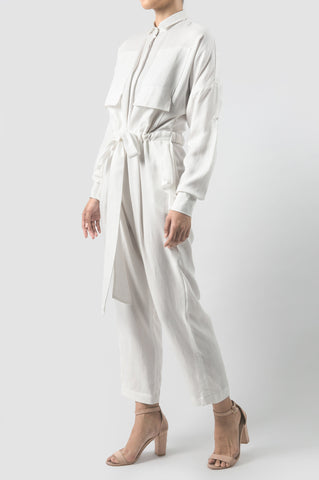 White Micah Jumpsuit Long
