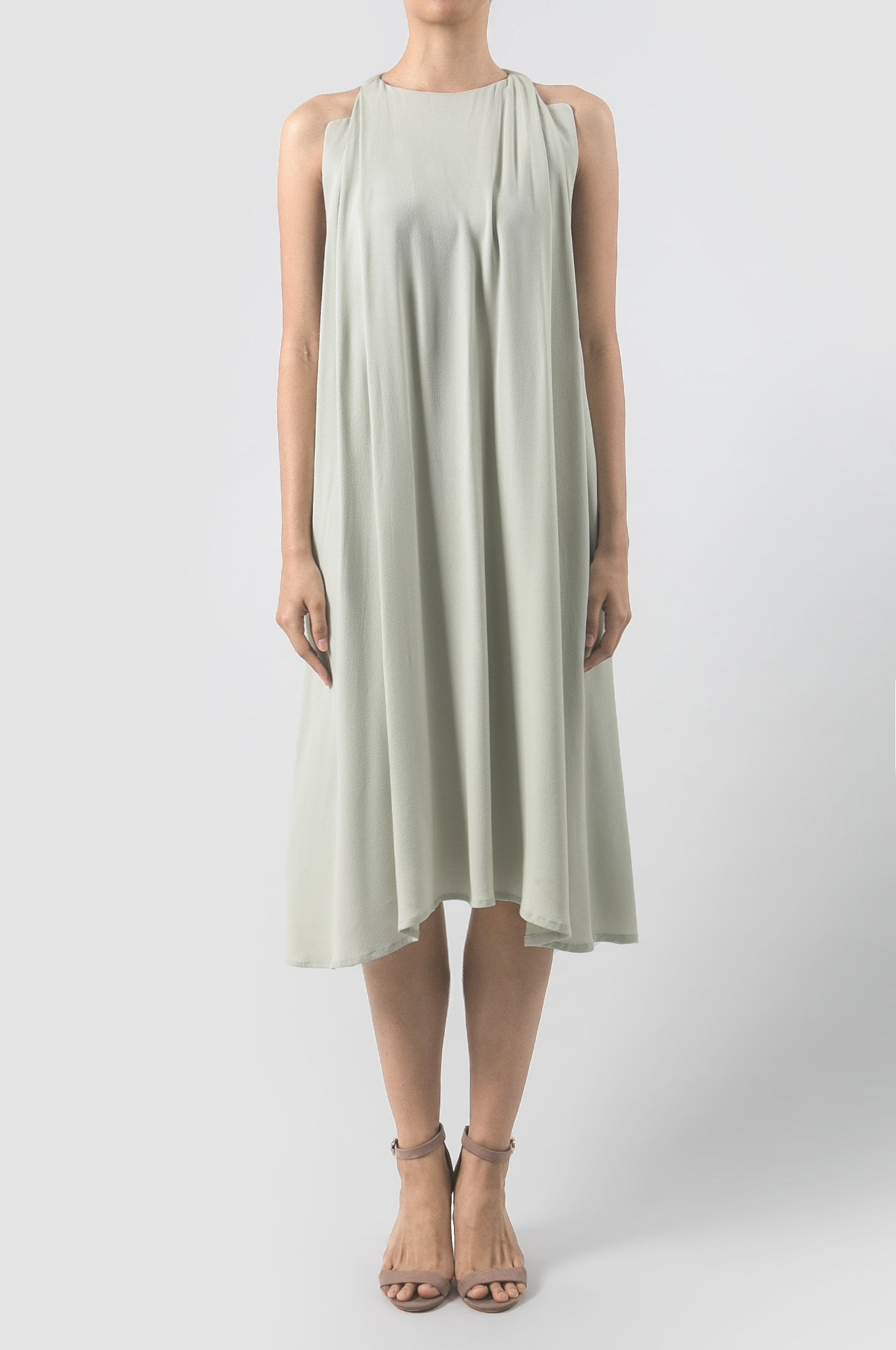 Mint Green Ojas Midi Dress