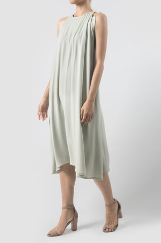 Sleeveless V-Neck Empire Midi Dress