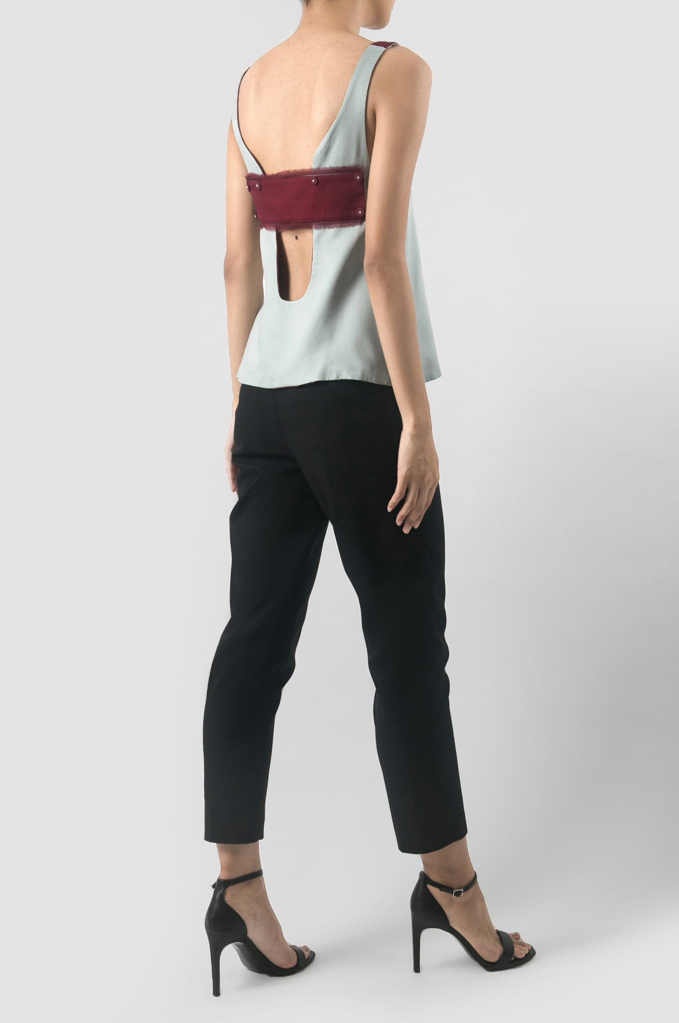 Icy Blue/Maroon Kama Reversible Top