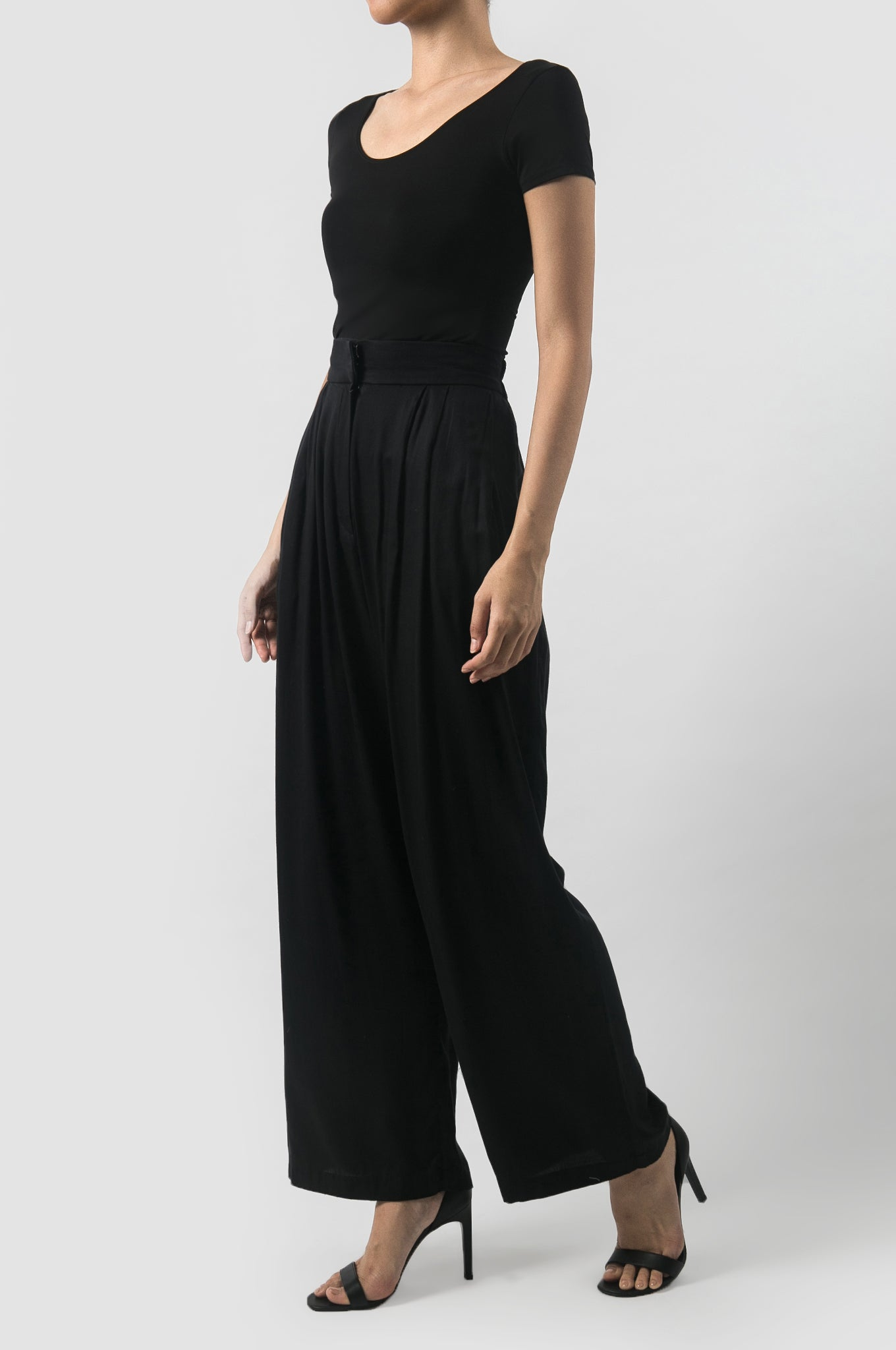 Black Kavya Summer Pants