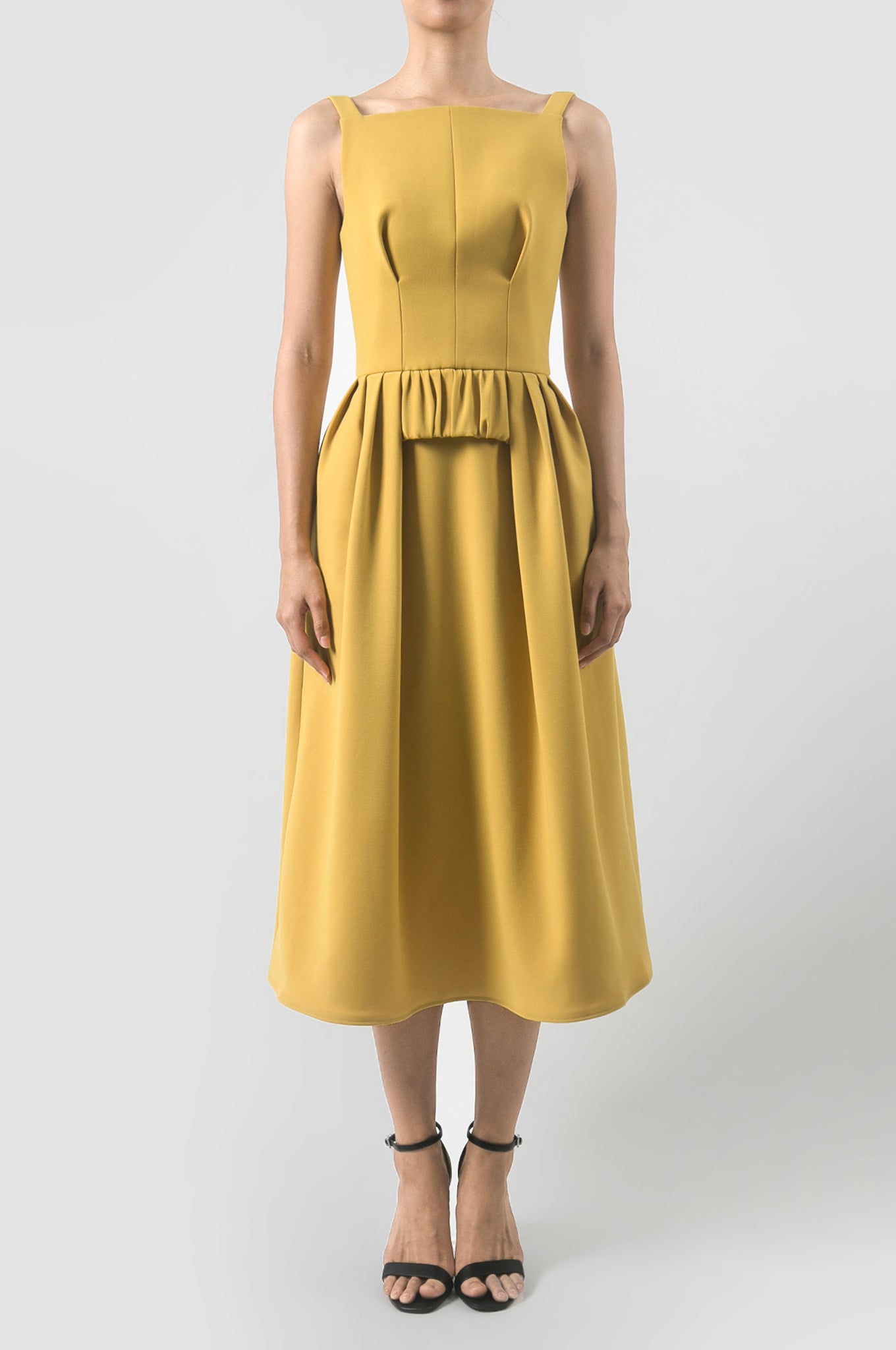 Kumera Yellow Imprint Dress
