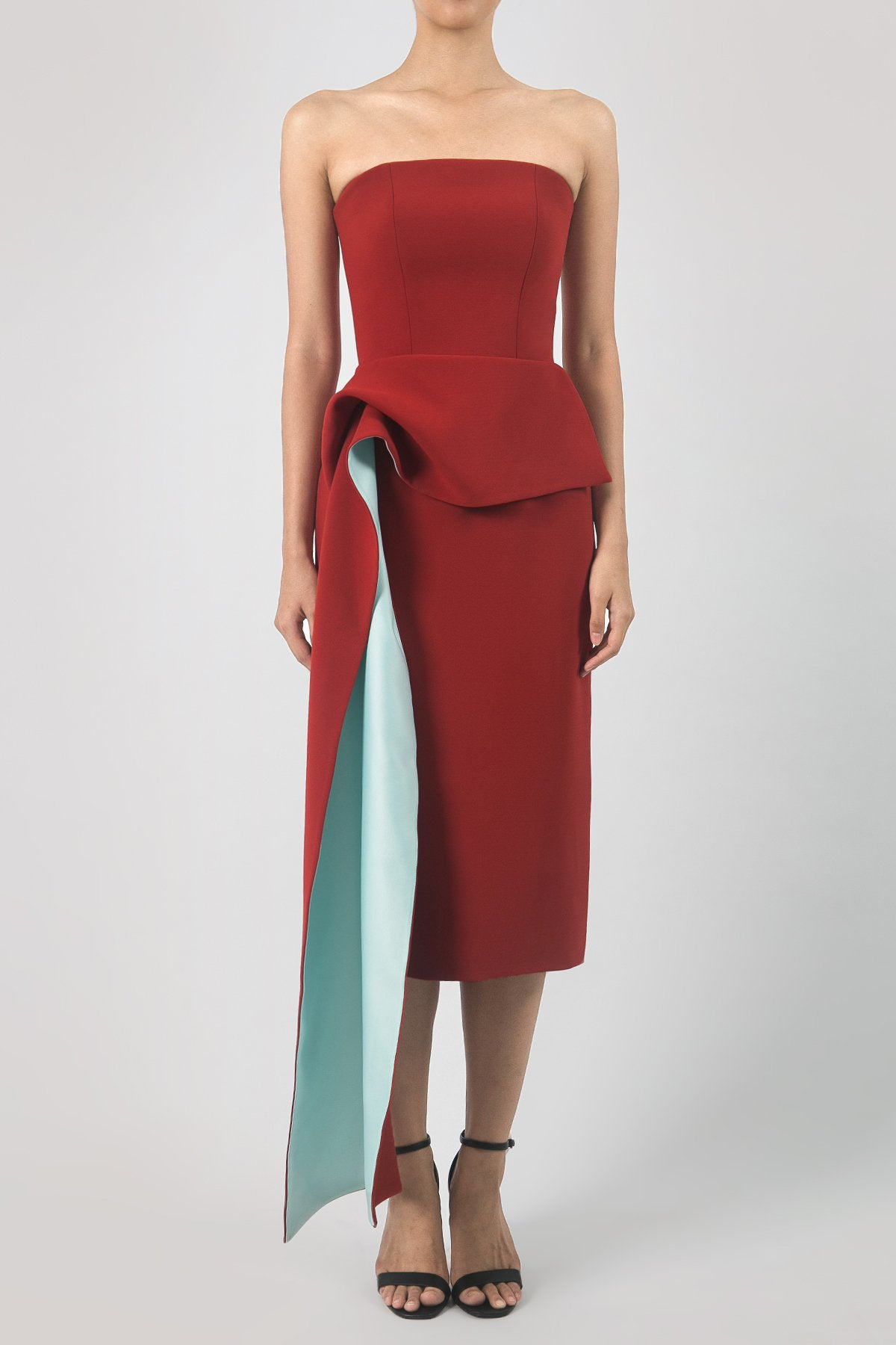 Terracotta Red Million Dress