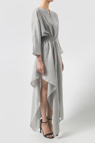 Light Grey Footprint Dress