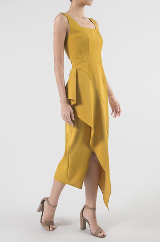 Sunflower Yellow Grabado Dress