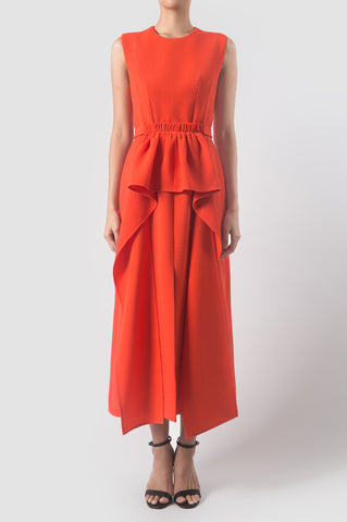 Cumin Orange Footprint Dress