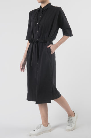 Titik Noir Shirt Dress