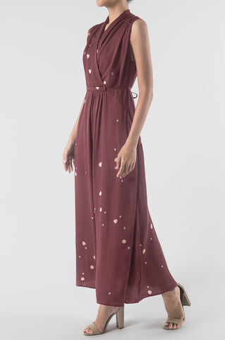 Seribu Bunga Garnet Long Evening Dress