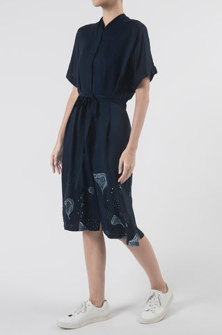 Alunan Midnight Indigo Shirt Dress