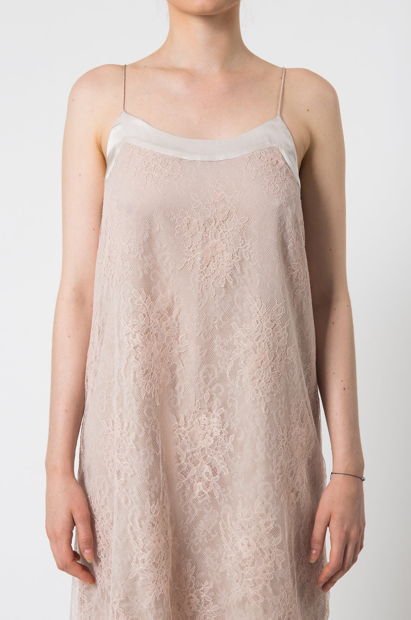 Blush Lace Camisole Dress