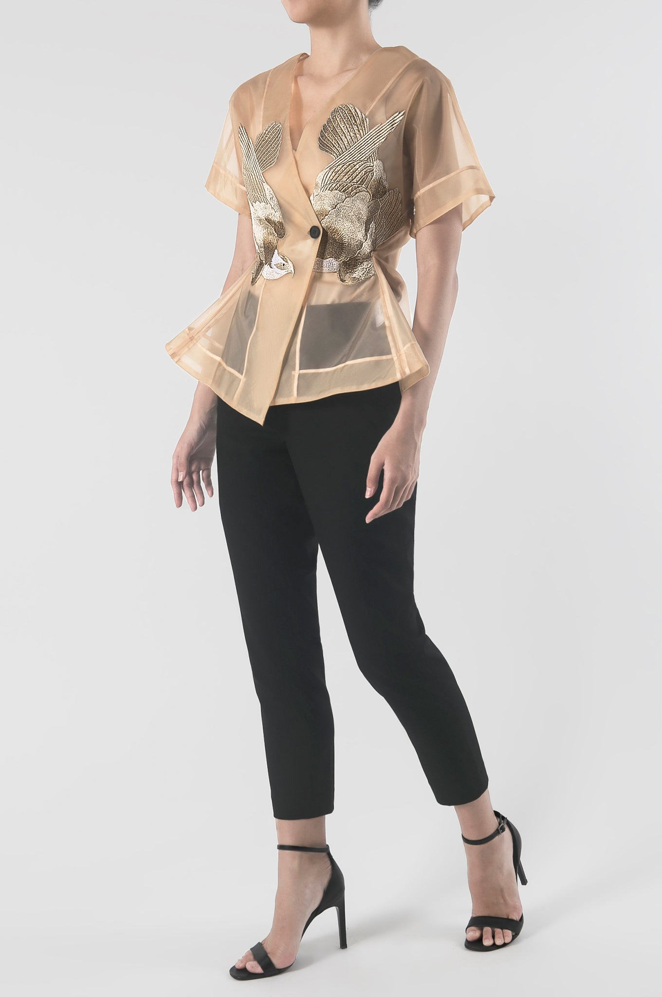 Signature Sheer Kimono Top with Embroidery