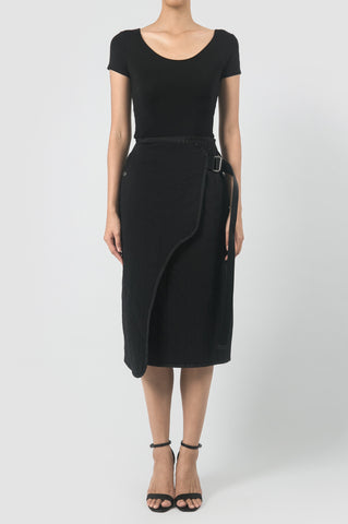 Quilted Asymmetrical Skirt
