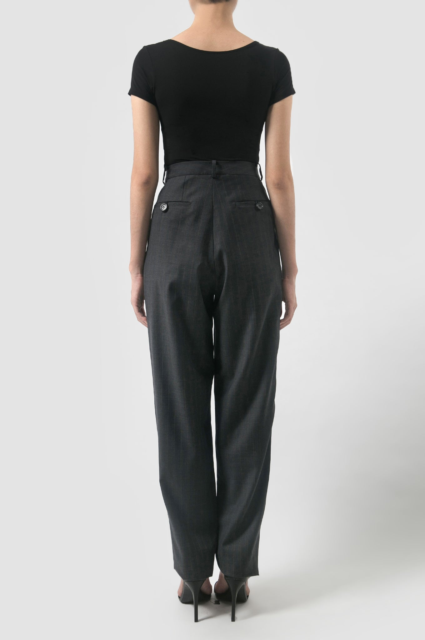 Tapered Wool Pants
