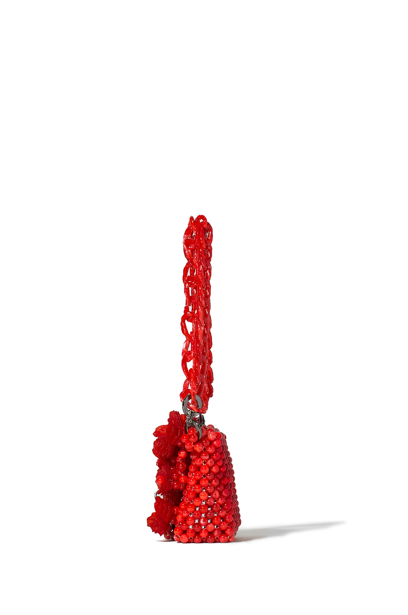 Red Jardin Beaded Baguette