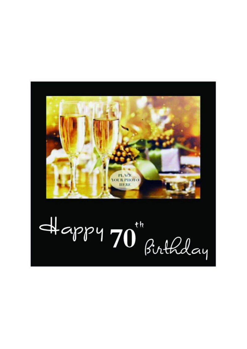 Birthday Frame | Black | 70th