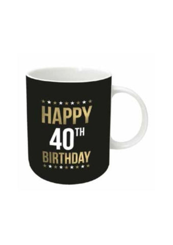 Gold Foil Birthday Mug | 40th