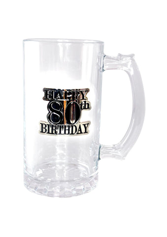 Badge Straight Stein | 80th