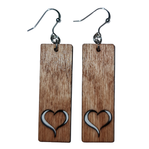Infinity Wooden Earrings