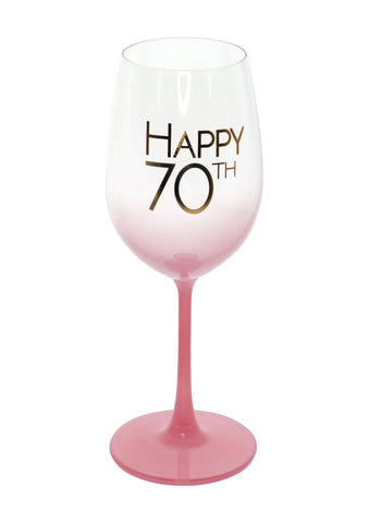Graduated Wine Glass | 70th Coral