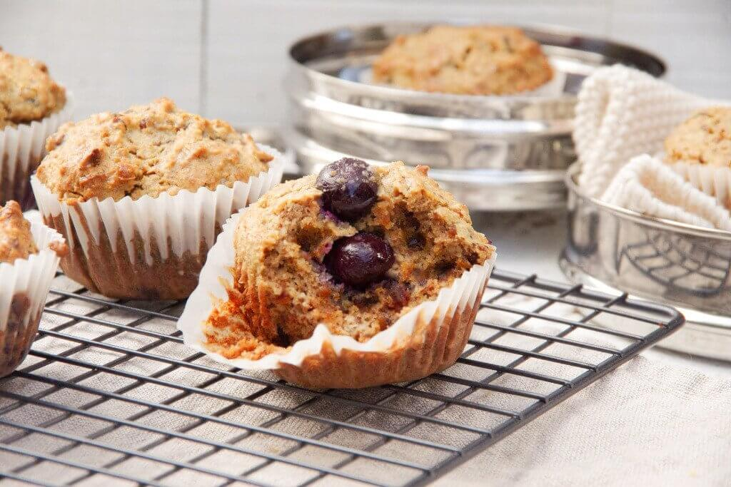 Blueberry and Flaxmeal Muffins