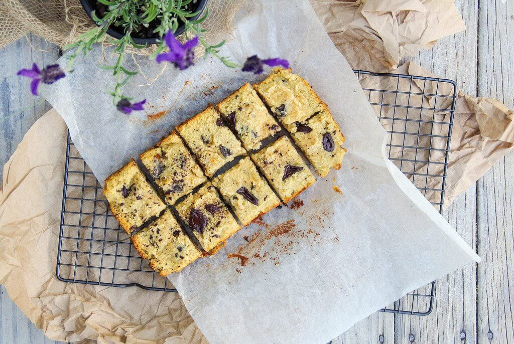 Coconut Chocolate Chunk Blondies