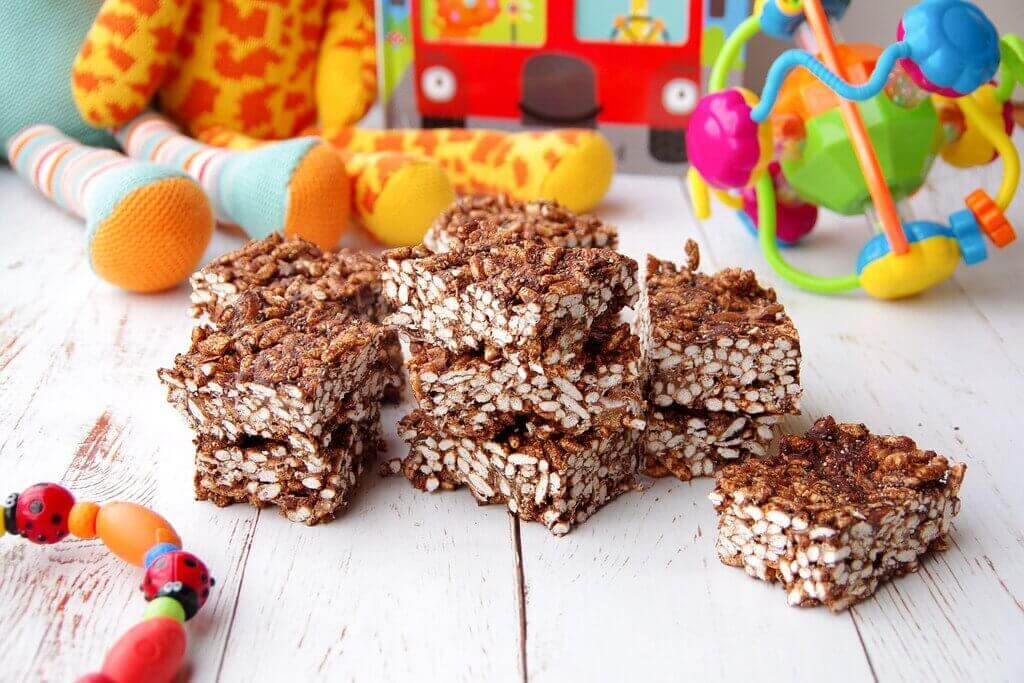 Healthy Chocolate LCM Bars (rice bubble bars)