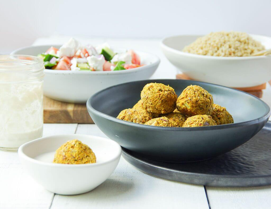 Hidden Veggie Falafel with Cashew Aioli